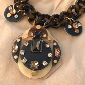 J Crew Lucite and Crystal necklace NWT
